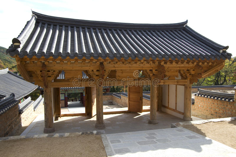Koreaanse Boeddhismetempel stock afbeelding