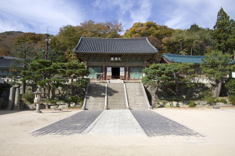 Koreaanse Boeddhismetempel royalty-vrije stock fotografie