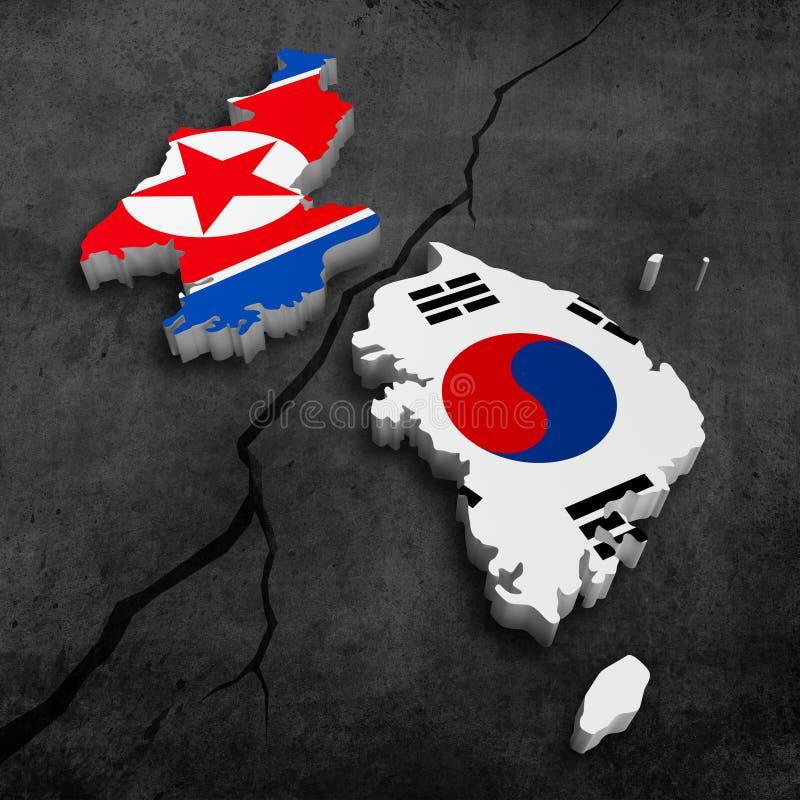Koreaanse crisis royalty-vrije illustratie