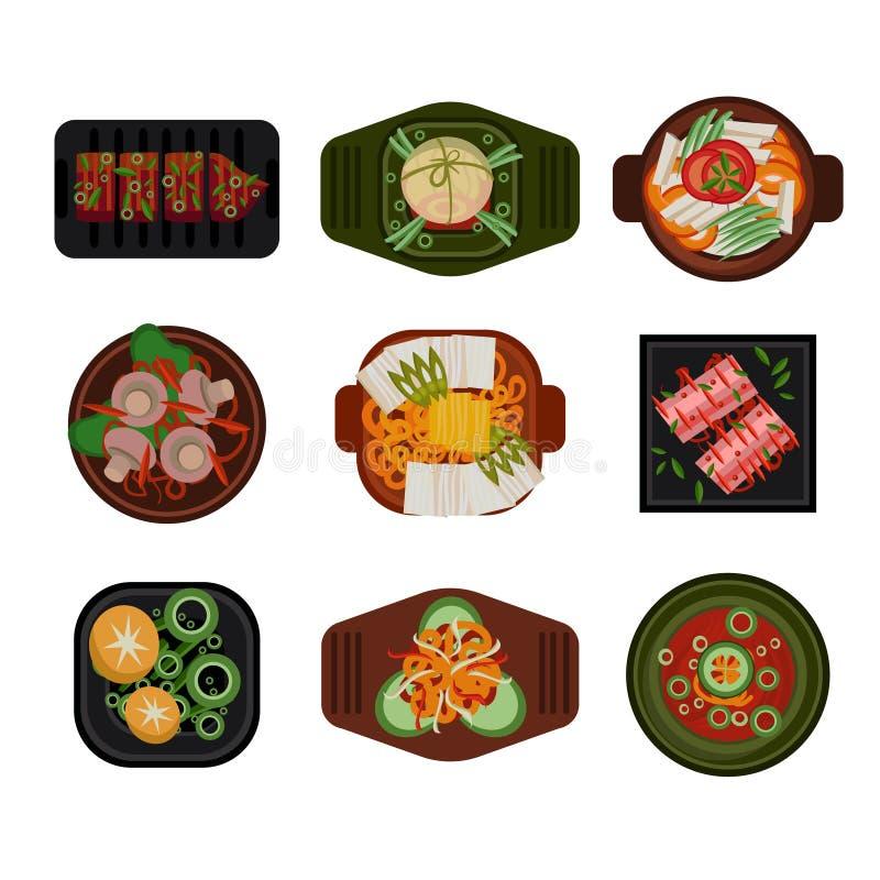 Koreaanse het voedselvector van de voedselillustratie stock illustratie