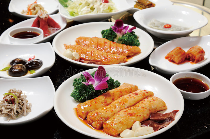 Koreaanse keuken royalty-vrije stock foto