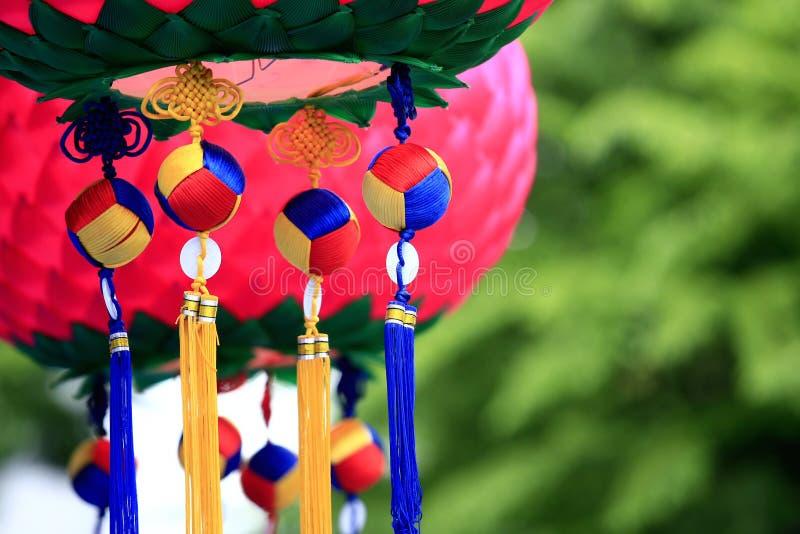 Koreaanse lantaarns stock afbeelding
