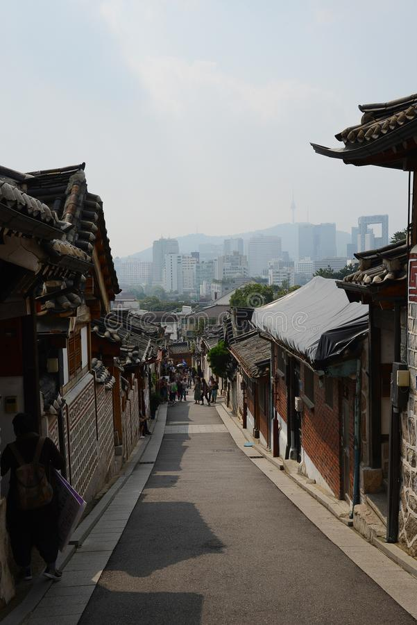 Koreaanse Oude stad stock afbeelding