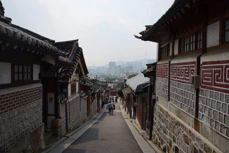 Koreaanse Oude stad royalty-vrije stock foto