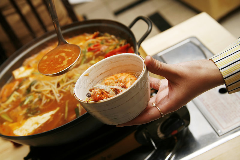 Koreaanse soep stock foto's