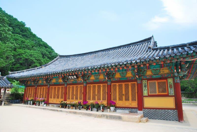 Koreaanse tempelarchitectuur royalty-vrije stock afbeelding