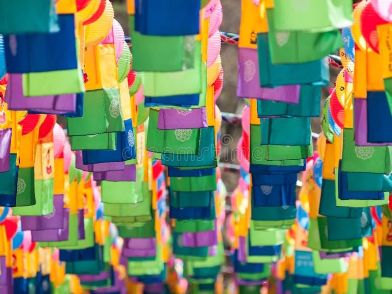 Koreaanse traditionele lampen stock fotografie