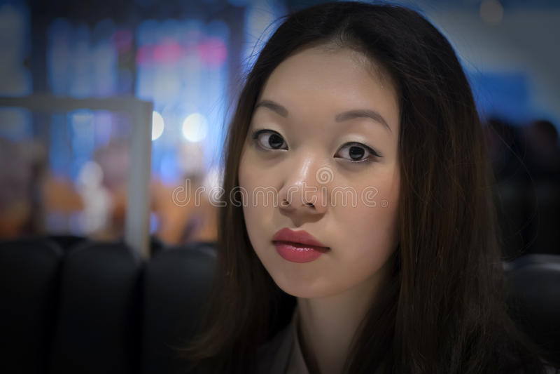 Koreaanse vrouw royalty-vrije stock foto's