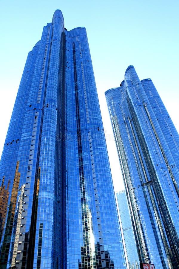Koreaanse Wolkenkrabber stock foto's