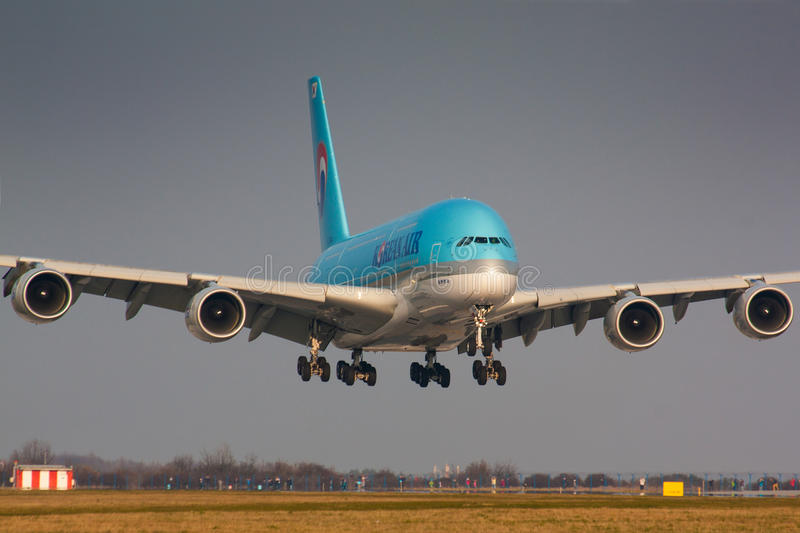 A380 Korean Air arkivbild