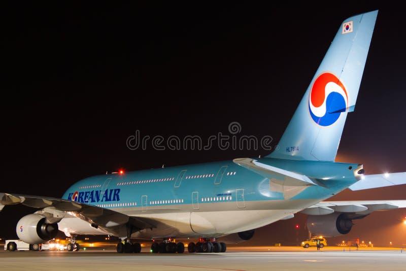 A380 Korean Air fotografia stock