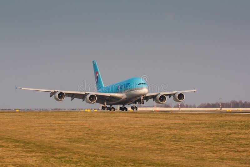 A380 Korean Air stock foto