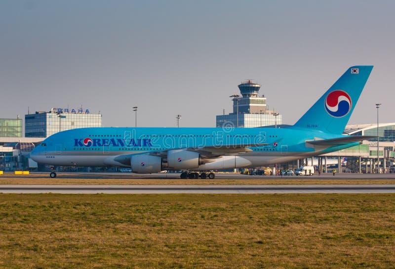 A380 Korean Air obraz royalty free