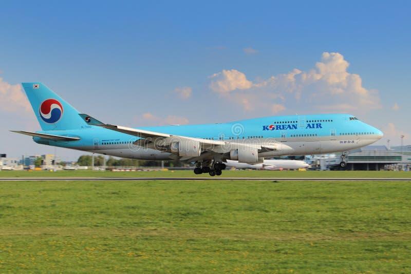 Korean Air fotografering för bildbyråer