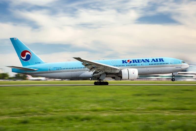 Korean Air stock afbeeldingen
