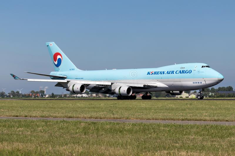Korean Air last arkivfoton