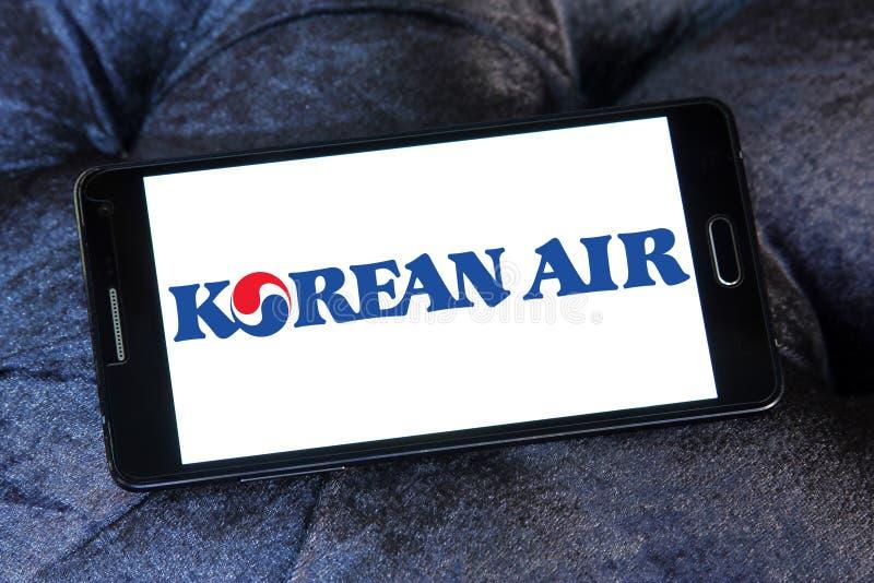 Korean Air logo royaltyfri bild