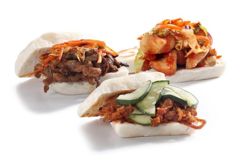 Korean baos stock image