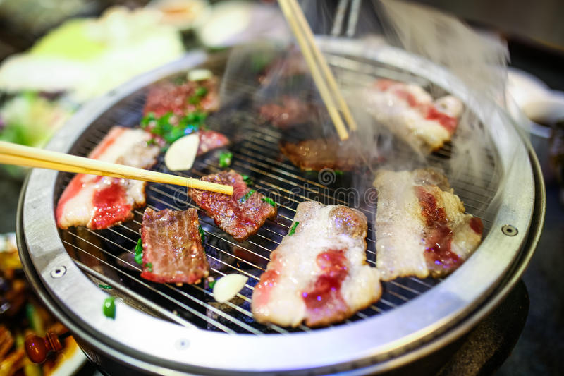 Korean Barbecue beef. Barbecue beef in south korea royalty free stock photo