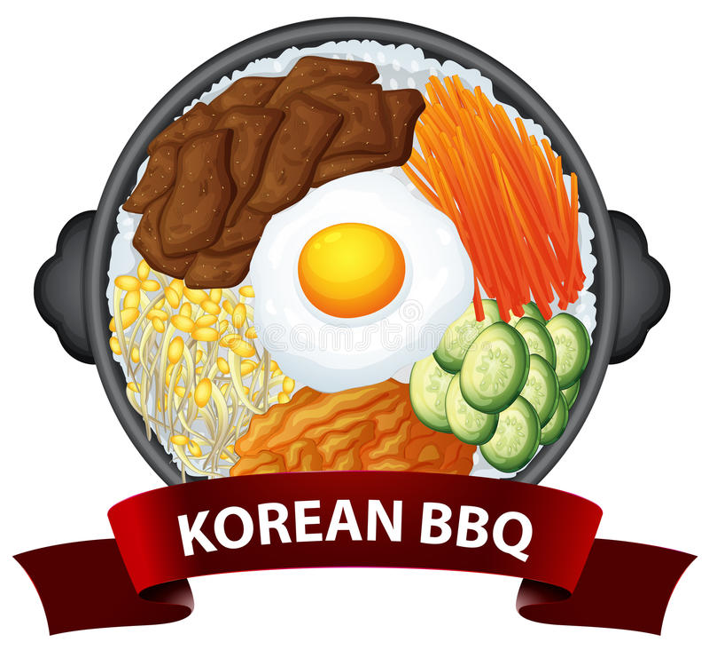 Free Korean BBQ On The Tray Stock Photography - 87475412