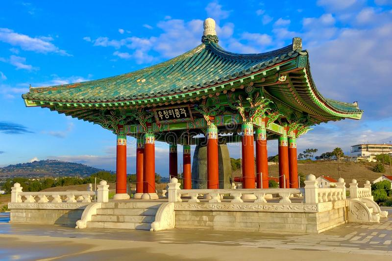The Korean Bell of Friendship stock photos