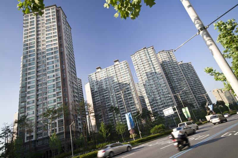 Korean Blocks Of Flats Royalty Free Stock Photos