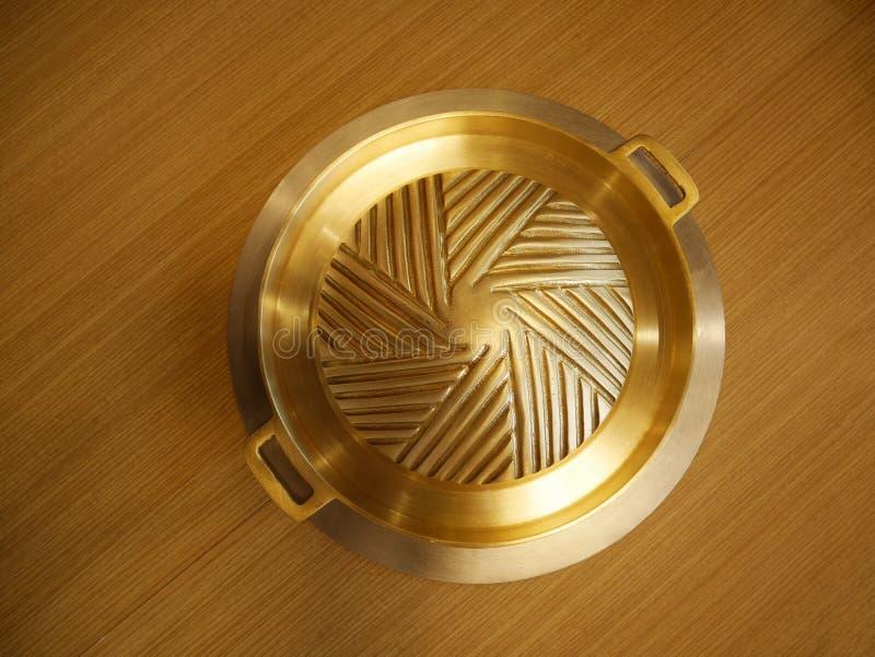 Korean brass pan royalty free stock photo