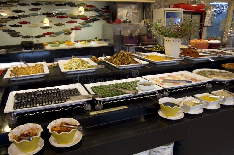 Korean buffet restaurant sushi Kimbap royalty free stock photos
