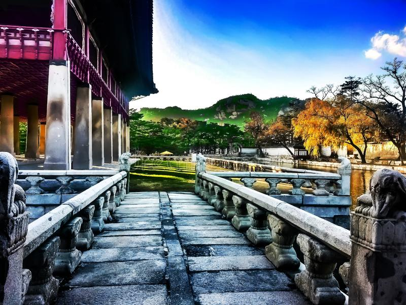 Korean conference& x27;s hall royalty free stock photo