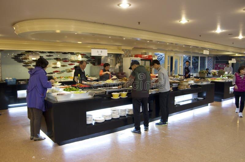 Korean cuisine buffet restaurant stock photo
