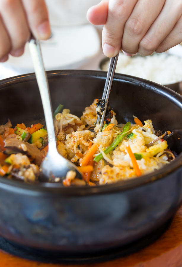 Download Korean cuisine with mash stock image. Image of bowl, asian - 27425959