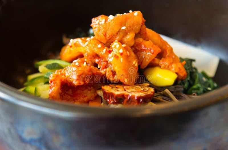 Korean cuisine with mash closeup stock photography