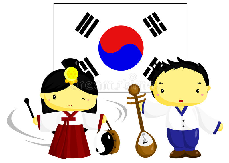 Download Korea Culture and Flag stock vector. Image of culture - 29969199