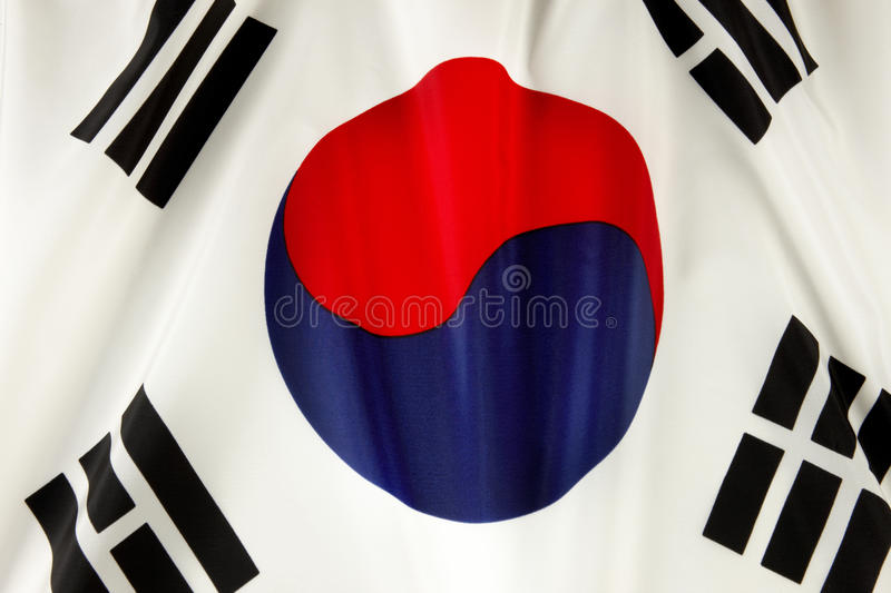 Korean flag royalty free stock photo
