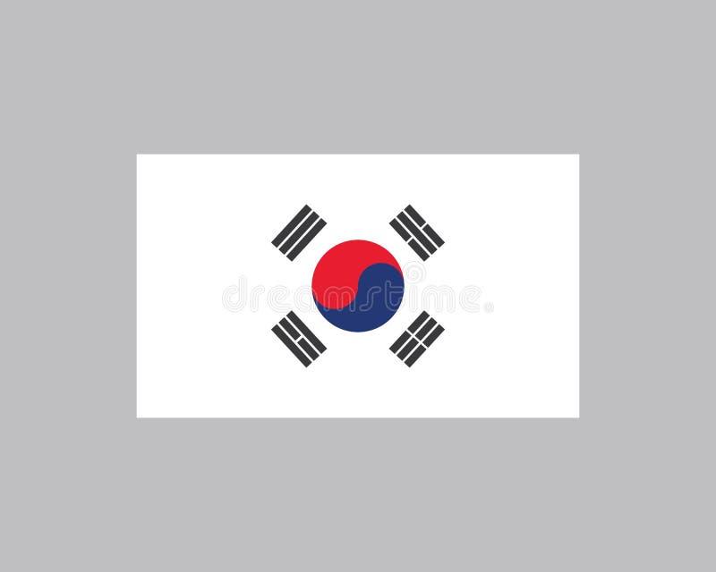 Korean flag vector illustration design. Template vector illustration