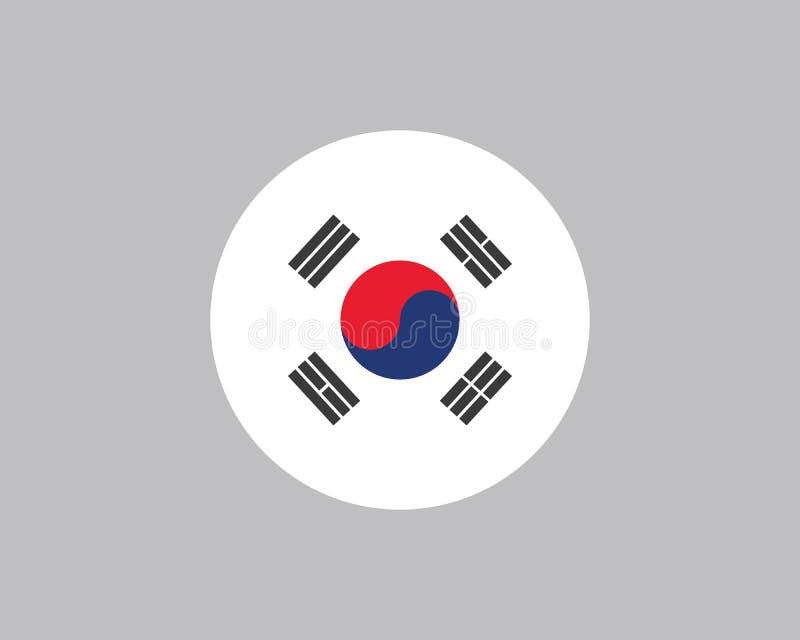 Korean flag vector illustration design. Template stock illustration