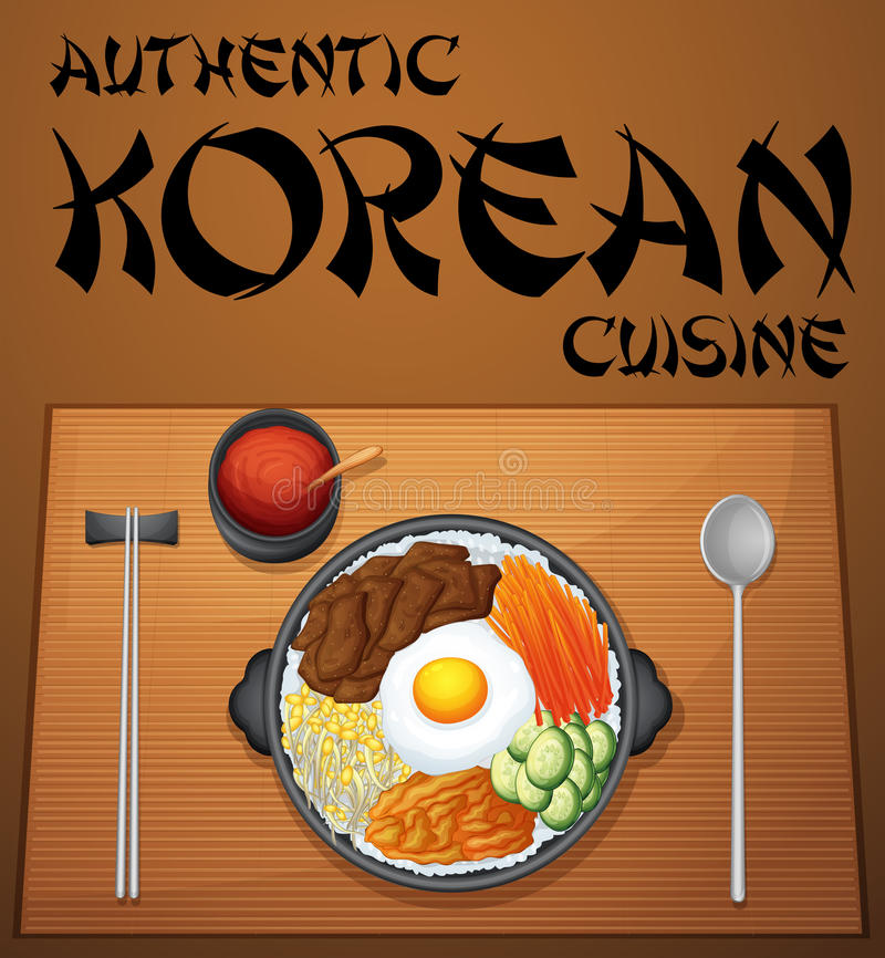 Korean food stock vector illustration of korean organic for Authentic korean cuisine