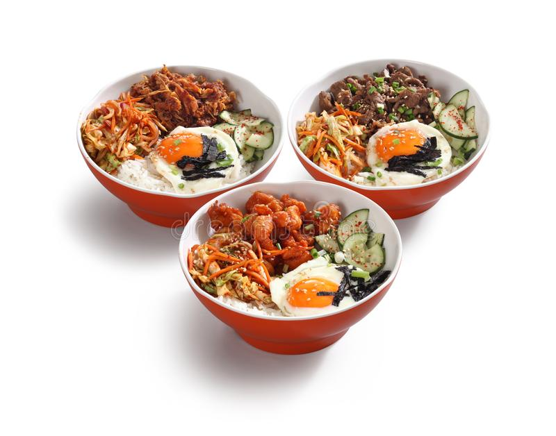 Korean food bowls royalty free stock photo