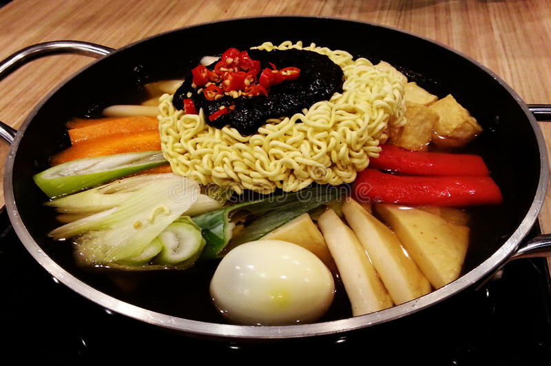 Korean food. Hot dish stock photography