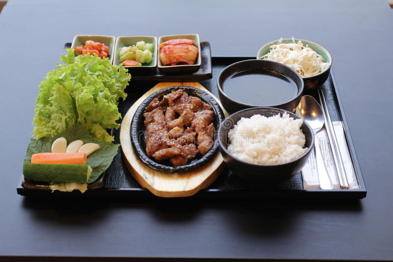 Korean food set royalty free stock photography