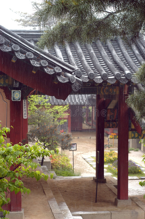 Korean house stock photography