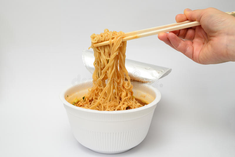 Korean Instant Cup noodle stock images