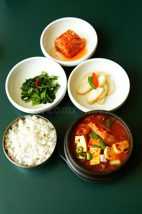 Korean Kim-chi. Made from fresh rice, soy, vegetables and other ingredients stock photos