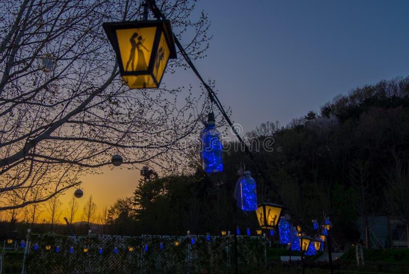 Korean Lantern stock photo