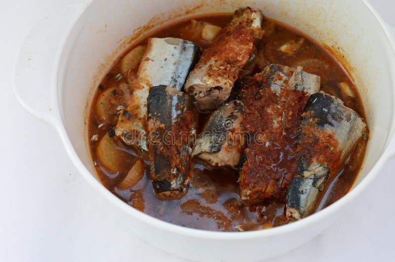 Korean Mackerel Stew Stock Photo