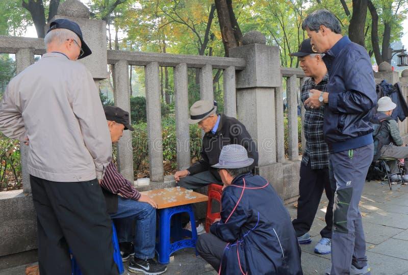 Korean man traditional board game Seoul South Korea royalty free stock photography
