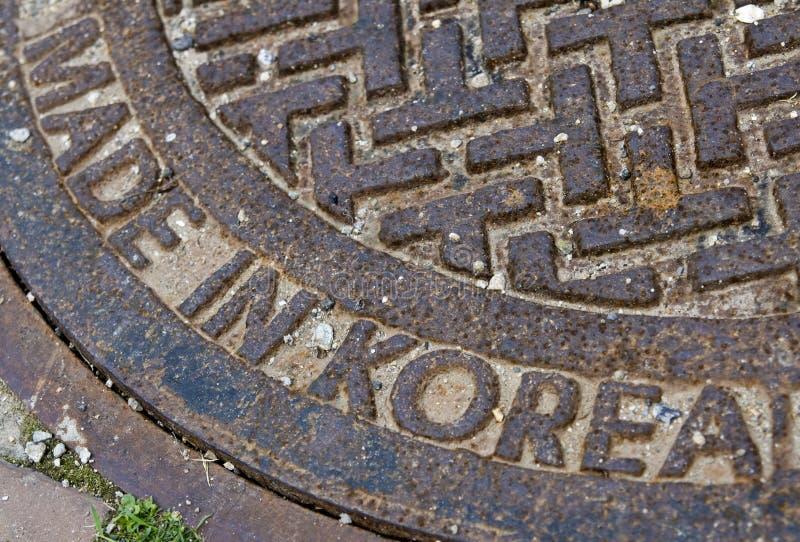 Korean manhole royalty free stock photography