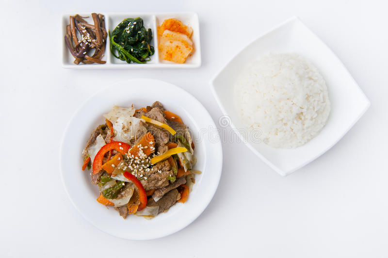 Korean meal royalty free stock photos