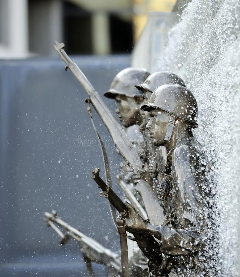 Korean Memorial Atlantic city stock images