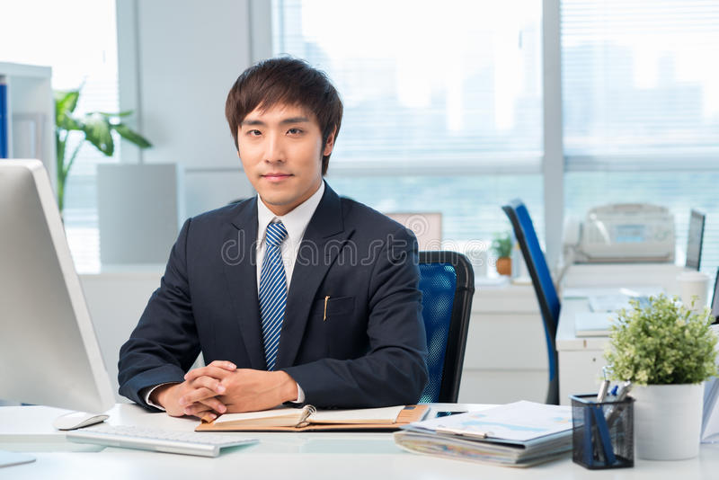 Korean office worker royalty free stock photos